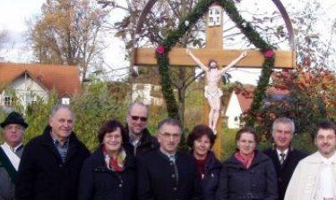 Segnung Dorfkreuz in Langwaid