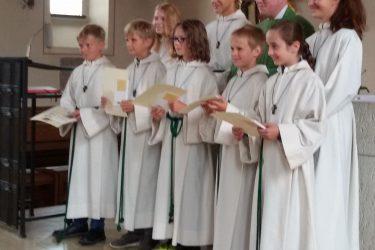 Neue Ministrant*innen in der Pfarrei St. Johannes Jetzendorf
